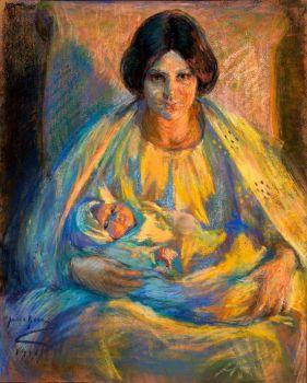 Alice Pike Barney, By Lamplight, 1911