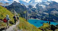 Switzerland lake Oeschinensee