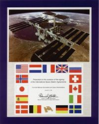Front cover of ISS Framework Agreement