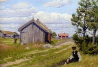 Farmyard by Paul Gustave Fischer