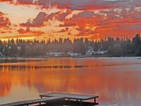 One more sunset over Lake Burien, Burien, WA
