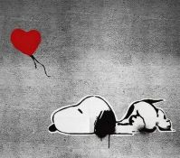 Happy Valentine Day Art - 'Love is all I got'  by Banksy