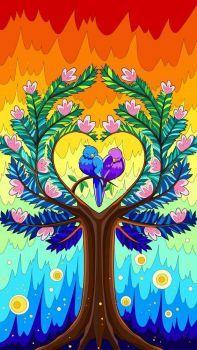 Le bonheur sur un arbre