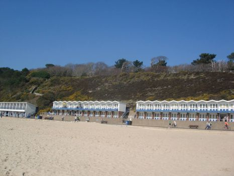 Beach huts at Branksome Chine