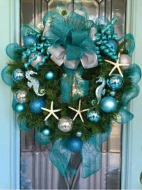 Sea life Christmas wreath