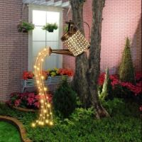 Waterfall Fairy Light Solar Watering Can