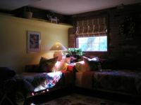 My Colorful Basement...about 4 years ago. It does have a window. Ground level is about 1 foot below the sill.
