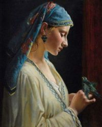 """""""Young Woman With A Parrot"""""""