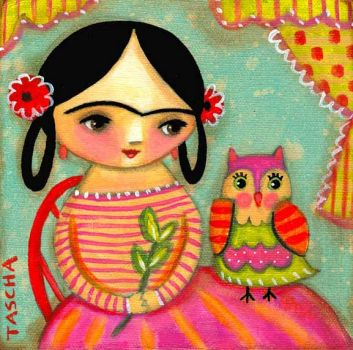 Frida Kahlo with Owl