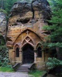 St Ignatius Rock Chapel in Modlivý Důl, Czech Republic