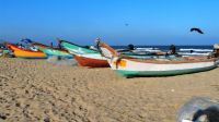 Fishing boats at Mamallapuram, India