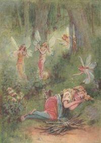 Cinderella sleeping & fairies