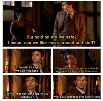 butterfly, dr who quote