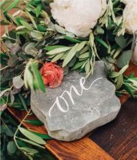 awesome-table-numbers-wedding-theme-stone