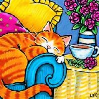 Lisa Marie Robinson - Blooms and Cat