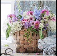 Basket of Summer Flowers