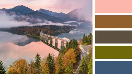 Sylvenstein Lake and Bridge