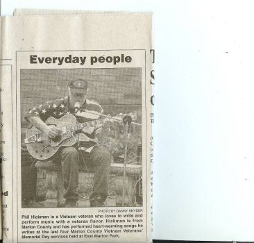 Me in a local newspaper article!