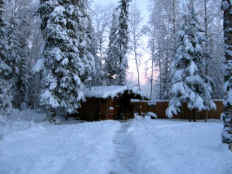sauna in the snow