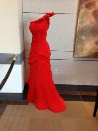 Red Lego dress