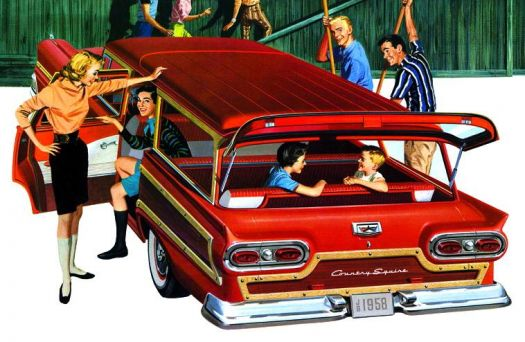 FORD  COUNTRY SQUIRE AD - 1958