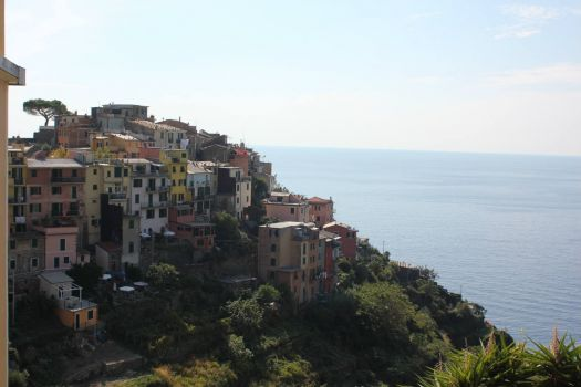Soft colours of Cinque Terre in Italy