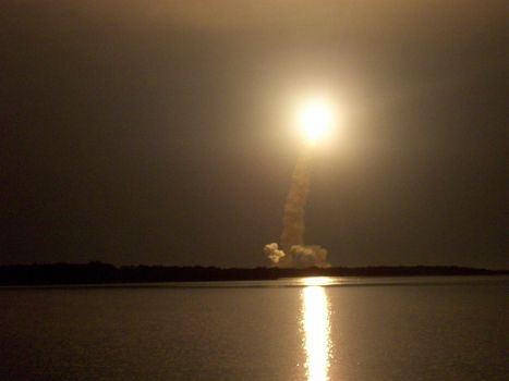 Space Shuttle night launch