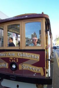Cable car to Fisherman`s Wharf