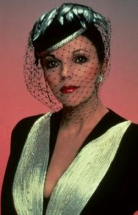 Veiled Joan Collins