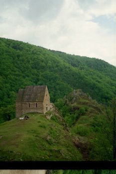 Medieval royal sepulchral chapel in Bobovac fortress, Bosnia