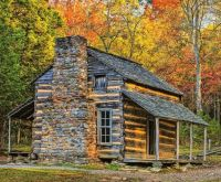 Cabin in the Great Smoky Mountains...
