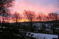 Snowy sunrise over Wales