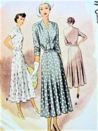 McCall 1940's Day Dress Pattern