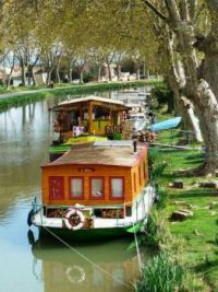 Canal barges, Languedoc Roussillon, France