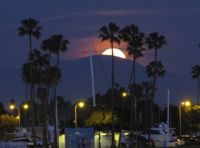FULL MOON IN LONG BEACH, CALIFORNIA