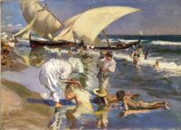 Joaquin Sorolla y Bastida (1863 - 1923) Valencia Beach Morning Light (1908)