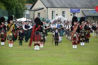 Massed Pipe Bands...Abernethy Highland games 2013