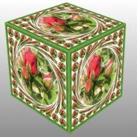 Růže - poupata v kostce...  Roses - buds in a cube ...