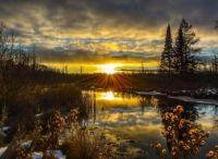 The rising sun creates a mesmerizing sight in Lakewood Wisconsin