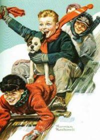 Rockwell boys and dog sledding