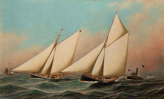Antonio Jacobsen (Danish-American, 1850–1921,) Puritan and Genesta in the Second Race of the 1885 Americas Cup (1886)