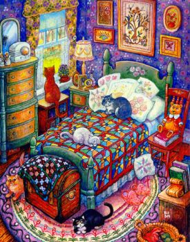 Cats and Quilts - large