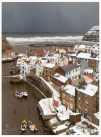 Staithes, Yorkshire in the snow