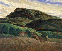 Plowing by Leo Breslau 1934