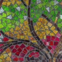 Crushed Glass Mosaic Wall Art
