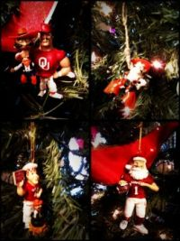 OU Christmas ornaments