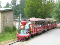 Train ride at zoo