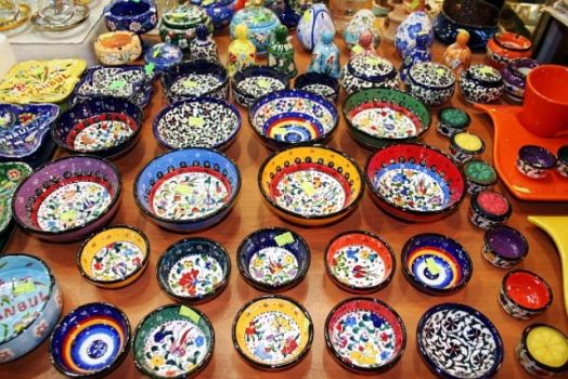 places I visited - Ceramics (Egyptian Bazar= Istanbul)