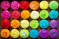 Cupcakes with colour
