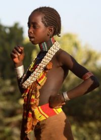 Ethiopia, young Hamer woman